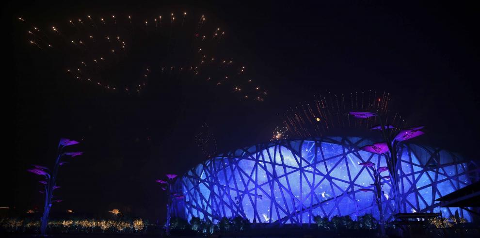 Galería de los fuegos artificiales de APEC China 2014