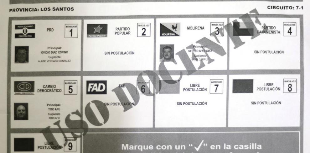 Tribunal Electoral reparte papeleta para las elecciones de mañana