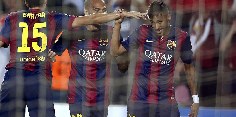 El Barça sentenció en la primera parte con goles de Neymar y Messi