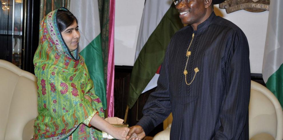 Presidente nigeriano se reunió con Malala