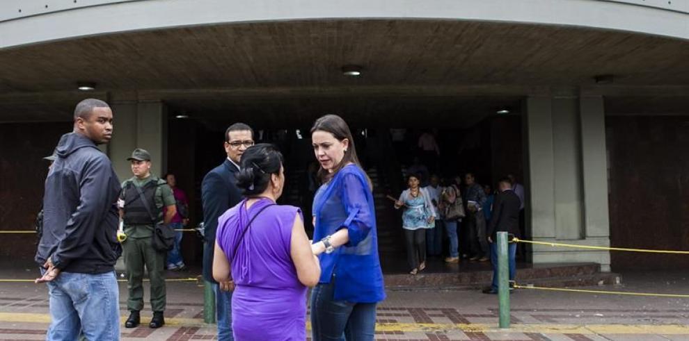 Machado descubre que fue imputada en junio de instigación pública