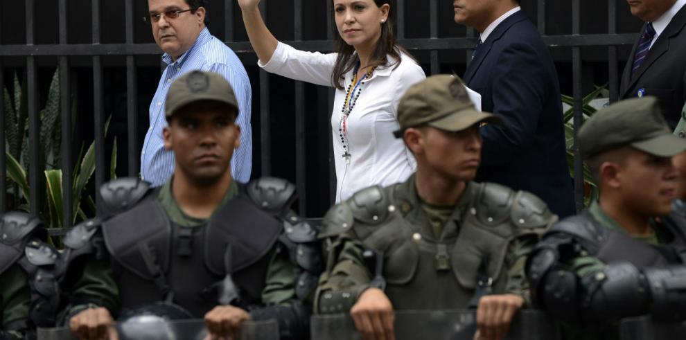 María Corina Machado llega a la Fiscalía General venezolana