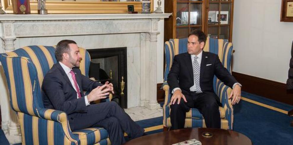 Marco Rubio elogia al canciller panameño por estar con el pueblo venezolano