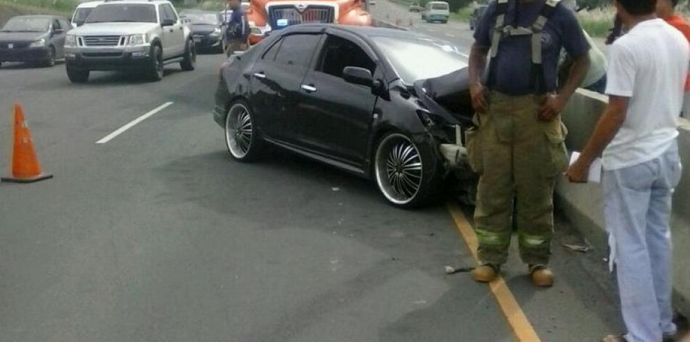 Se registra accidente en la autopista Arraiján-La Chorrera