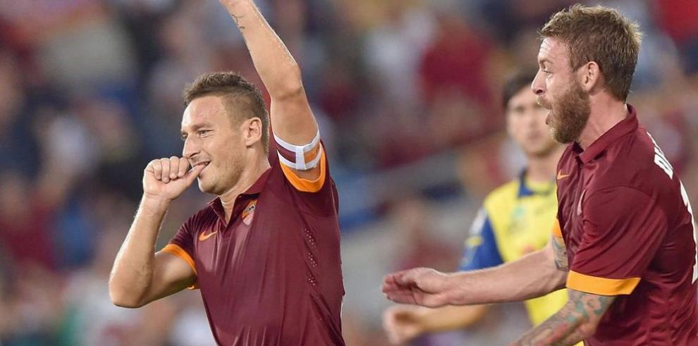 Roma sigue con paso firme en la liga de Italia
