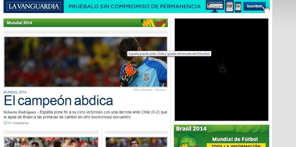 Titulares en España por la eliminación del Mundial Brasil 2014