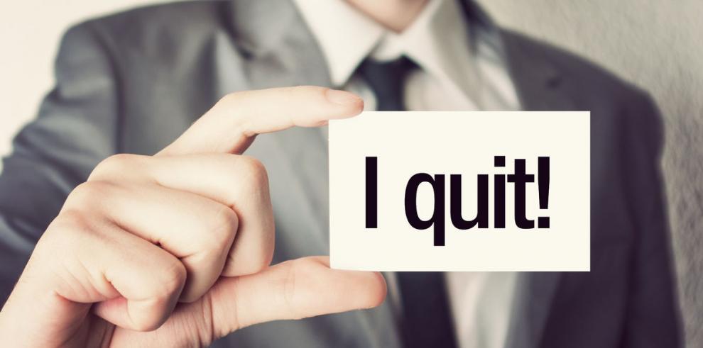 ¿Se renuncia al jefe o al trabajo?