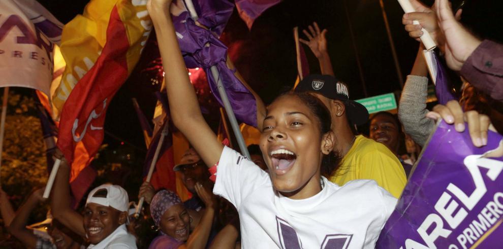Así celebraron el triunfo de Juan Carlos Varela