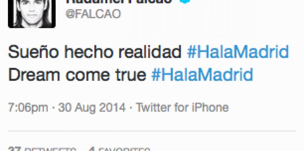Supuesto tuit de fichaje de Falcao enciende las redes