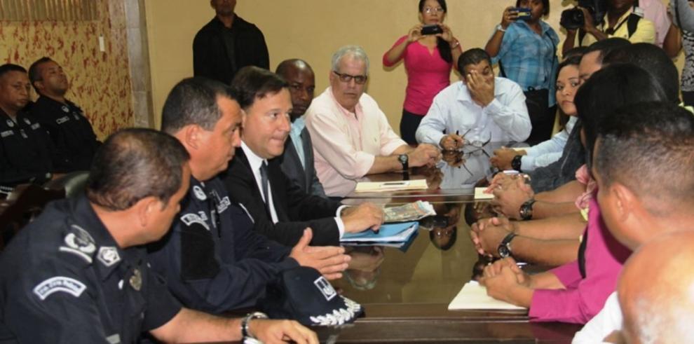 Presidente Varela se reúne con autoridades de San Miguelito