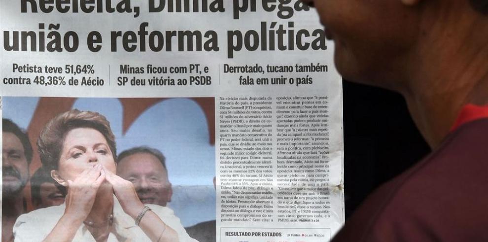 Rousseff enfrenta un país dividido y con la economía estancada