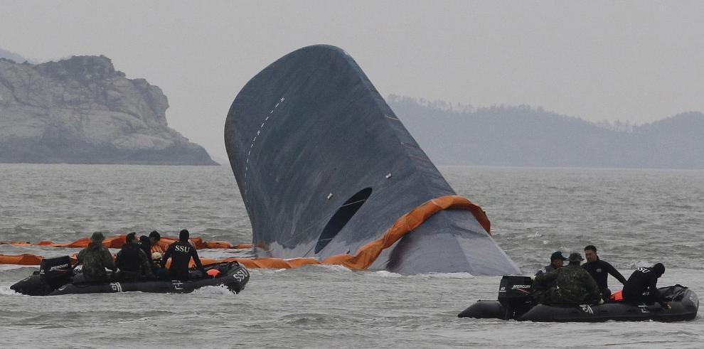 195 días después de que el transbordador Sewol se hundió, hallan cuerpo