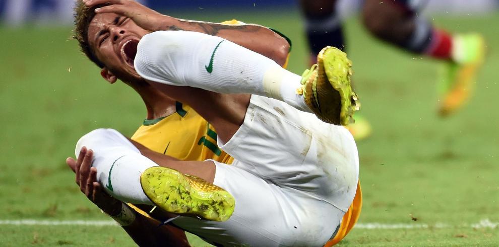 Neymar se pierde el Mundial por fractura en tercera vértebra lumbar