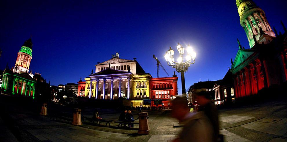 Berlín resplandece durante el 'Festival de las luces'