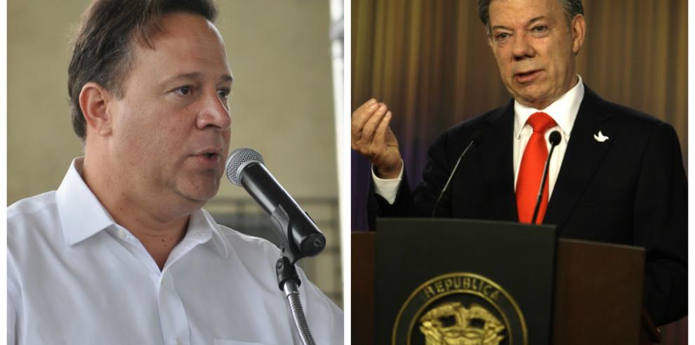 Juan Manuel Santos se reúne con presidente Varela