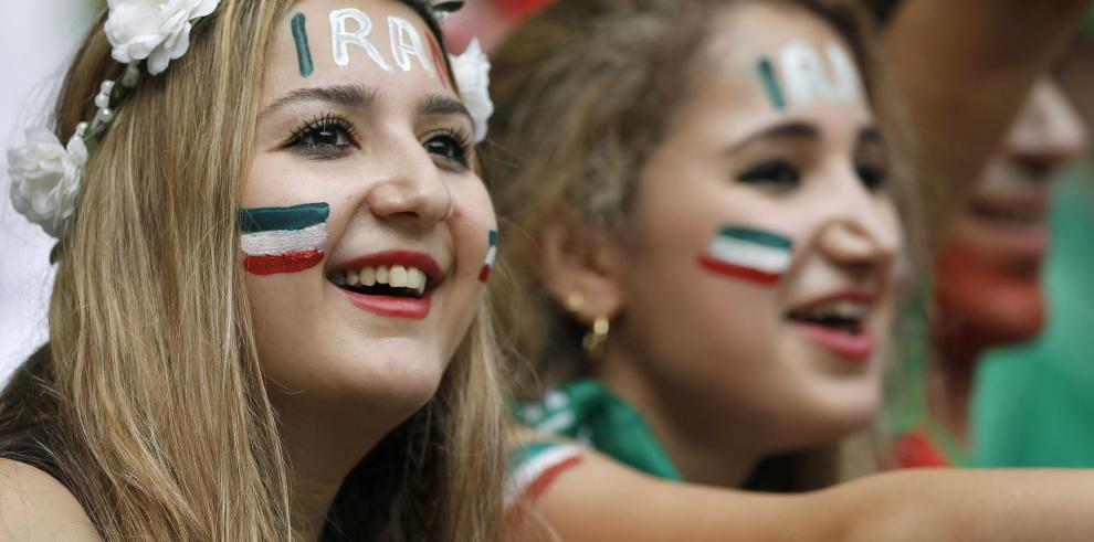 La belleza iraní que acompañó al equipo hasta el final