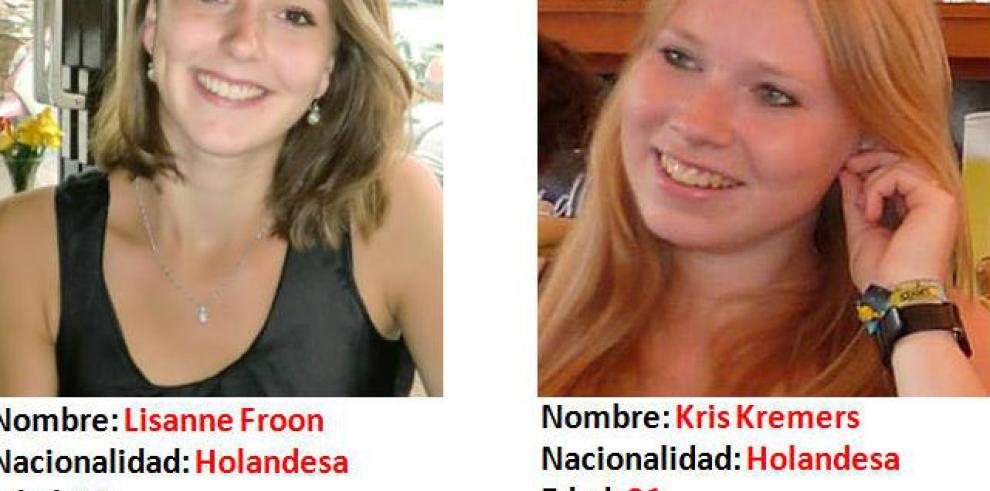 Turistas holandesas desaparecidas en Boquete