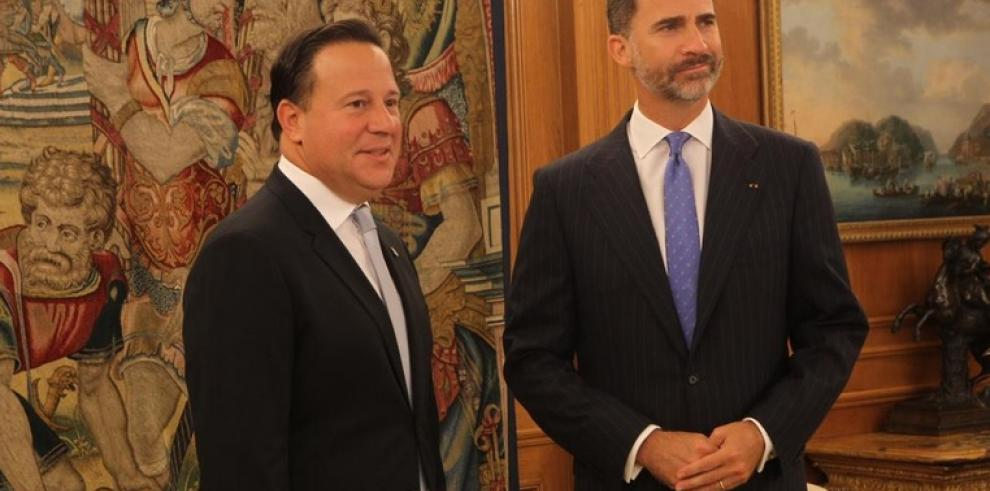 Varela y Felipe VI trataron sobre retos de Iberoamérica
