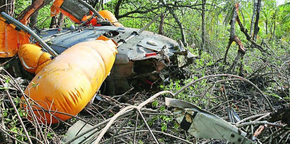 Reemplazo de helicóptero accidentado aún no llega
