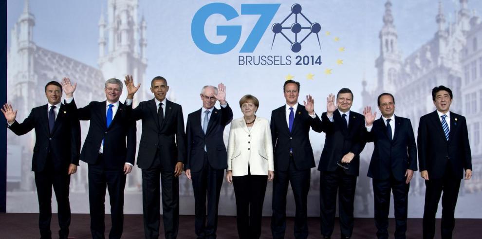 Líderes del G7 arrinconan a Putin