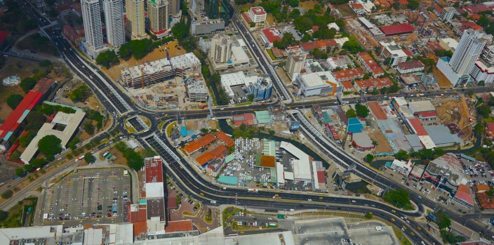 Corredores, calles e intersecciones desde el aire