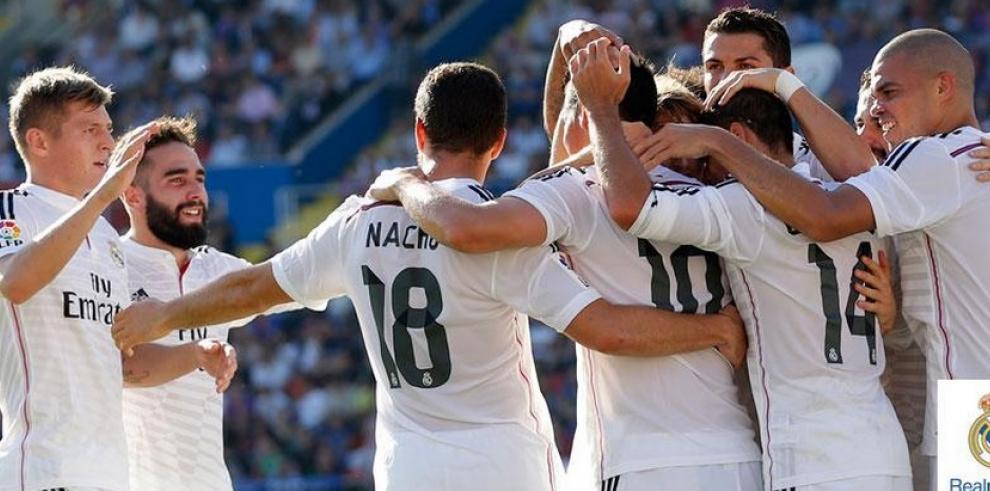 Real Madrid golea a Levante 5-0