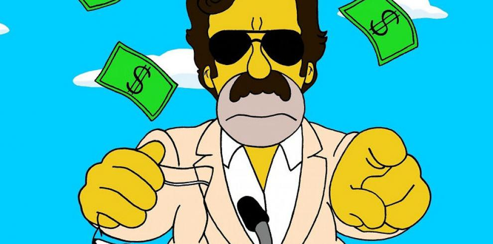 Artista transforma a Homero Simpson en el Chapo Guzmán y Pablo Escobar