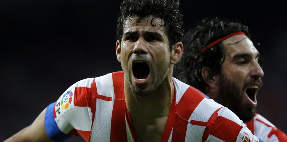 Con Diego Costa sonriente, el Atlético llega a su hotel lisboeta