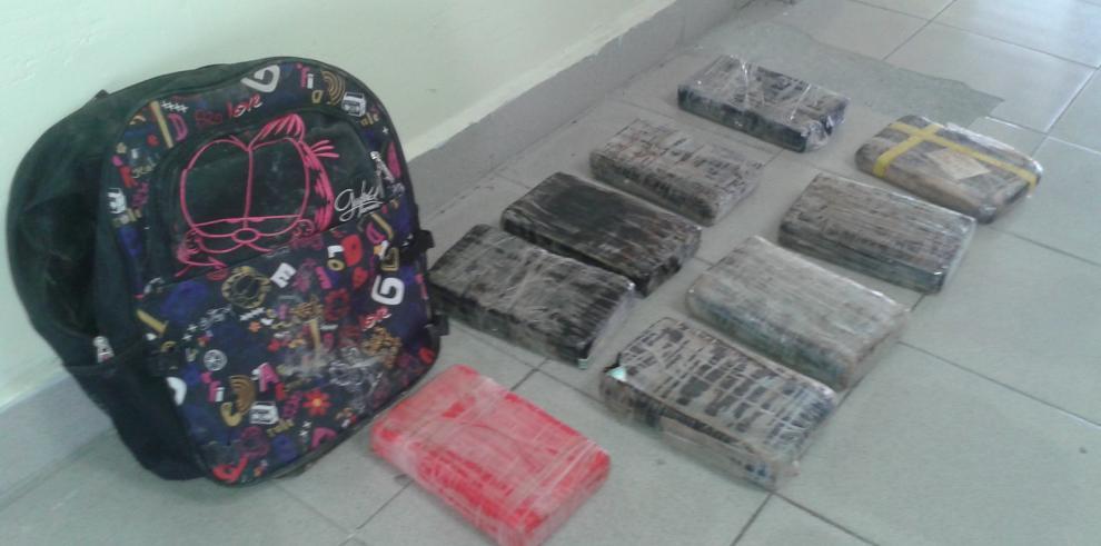 Decomisan 9 kilos de droga en Cativá