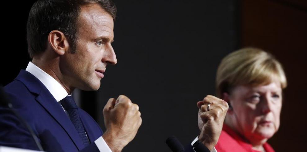 Macron y Merkel 2019 brexit