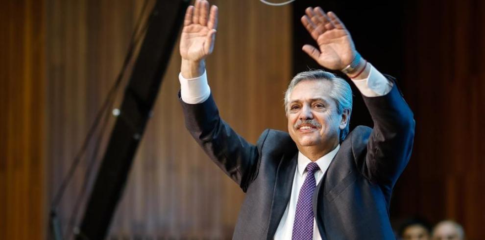 Fotografía del candidato presidencial por el Frente de Todos, Alberto Fernández.