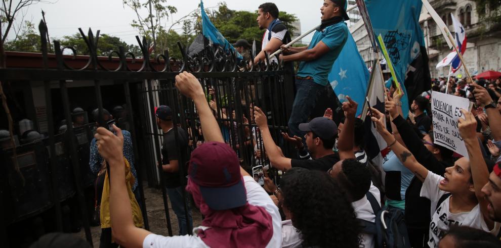 Protestas en la Asamblea Nacional
