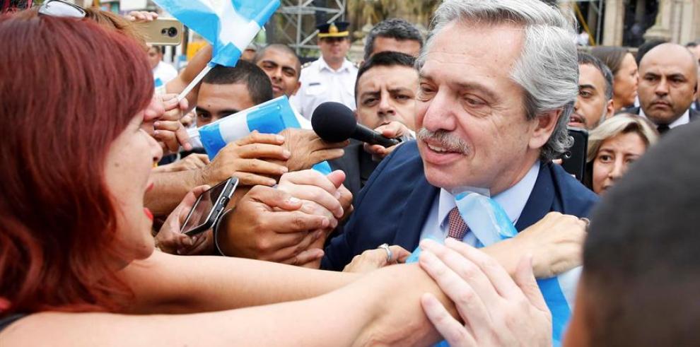 El presidente electo de Argentina, Alberto Fernández, visita este martes la ciudad norteña provincia de Tucumán (Argentina). EFE/ Adrián Lugones