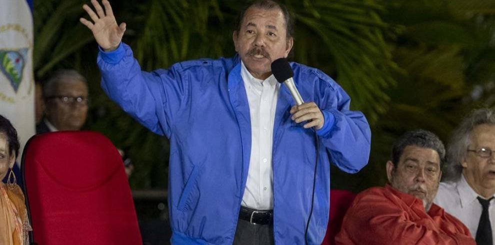 En la imagen, el presidente de Nicaragua, Daniel Ortega.