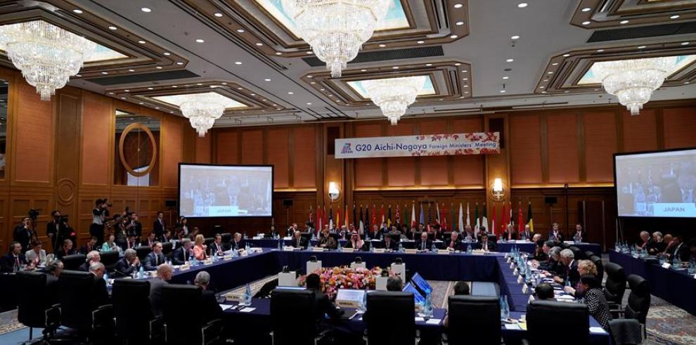 Los ministros de Exteriores del G20 iniciaron hoy su reunión en la ciudad japonesa de Nagoya