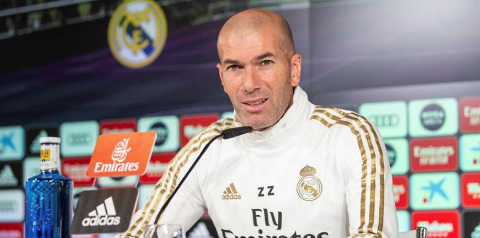 El técnico del Real Madrid Zinedine Zidane