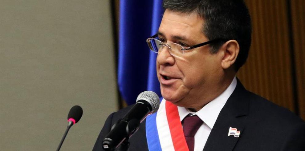 En la imagen, el expresidente paraguayo Horacio Cartes.