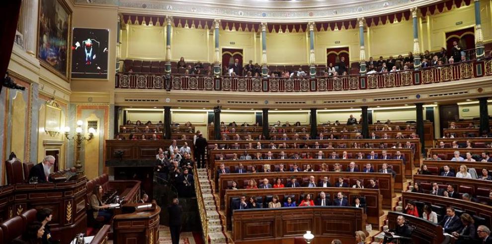 Vista del hemiciclo del Congreso al inicio la sesión constitutiva de la XIV legislatura de la Cámara Baja .