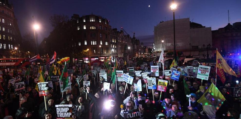 Protesta en Londres contra la OTAN 2019