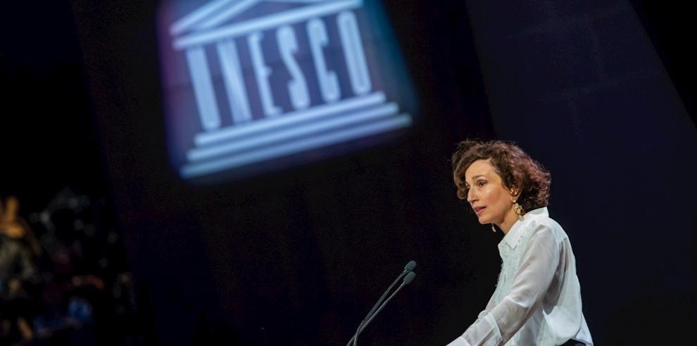 En la imagen, la directora general de la Organización de las Naciones Unidas para la Educación la Ciencia y la Cultura (Unesco), Audrey Azoulay.