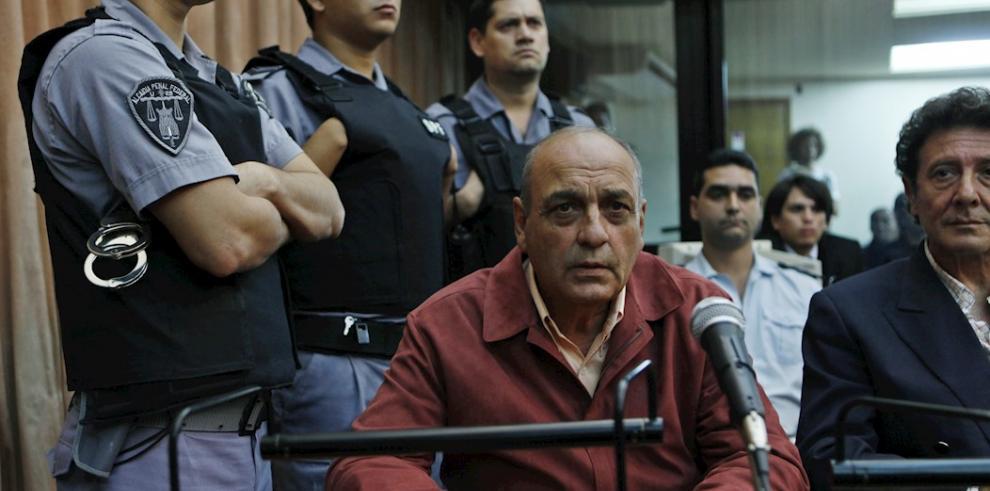 En la imagen, el exagente civil de inteligencia del Ejército de Argentina Raúl Guglielminetti (c).