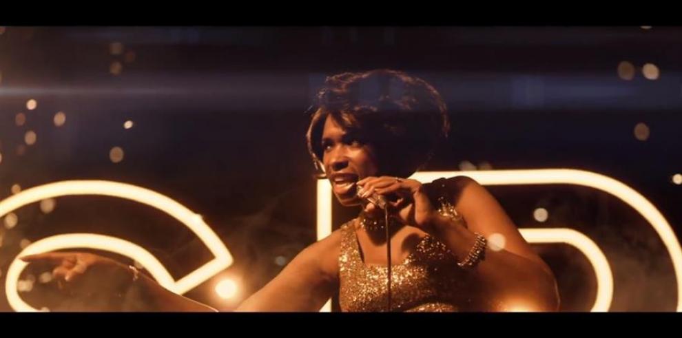 Fotograma cedido este viernes por MGM que muestra a Jennifer Hudson mientras interpreta a Aretha Franklin.