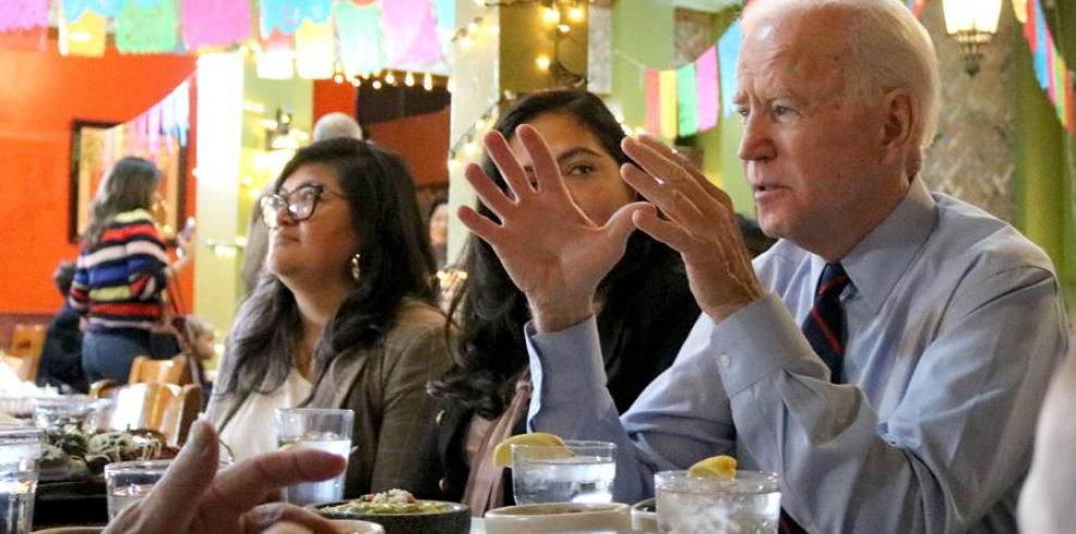 El aspirante a la candidatura demócrata para las elecciones presidenciales Joe Biden