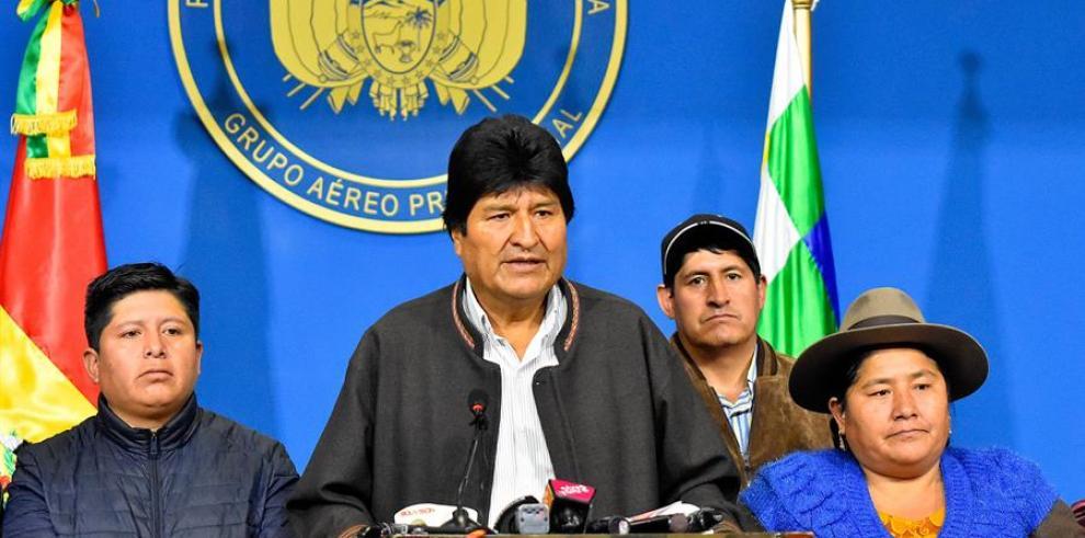 ]El expresidente de Bolivia Evo Morales.