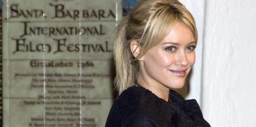 La actriz estadounidense Hilary Duff.