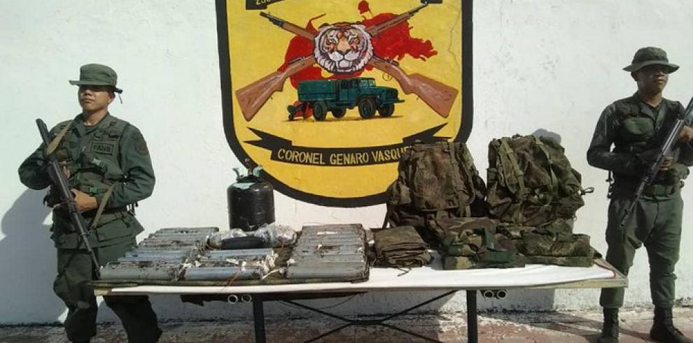 Militares venezolanos incautan varios explosivos en la frontera con Colombia