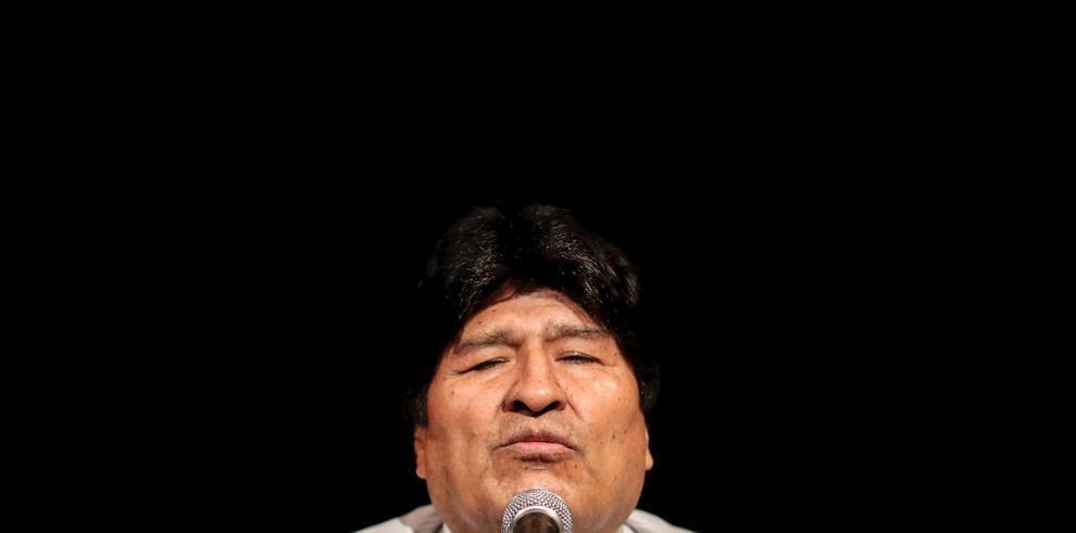 En la imagen, el expresidente de Bolivia Evo Morales