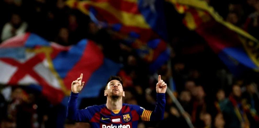 El delantero del FC Barcelona Leo Mess.