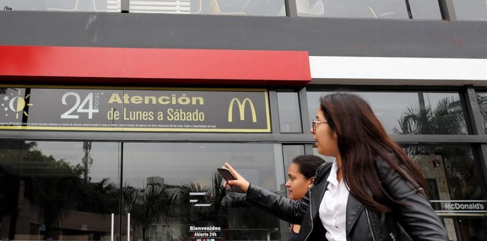 McDonald's en el distrito de Miraflores, en Lima (Perú)