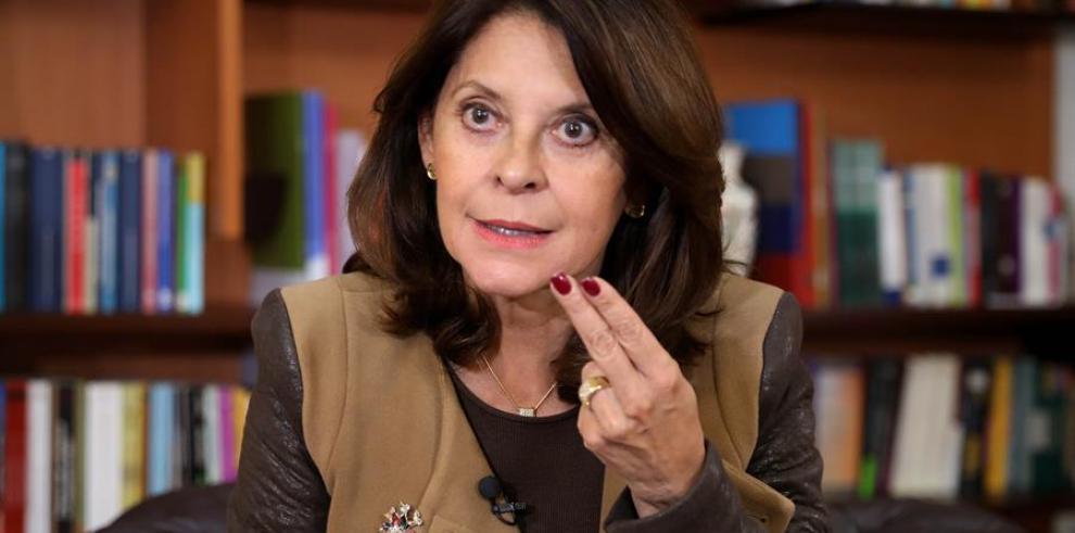 La vicepresidenta de Colombia, Marta Lucía Ramírez.